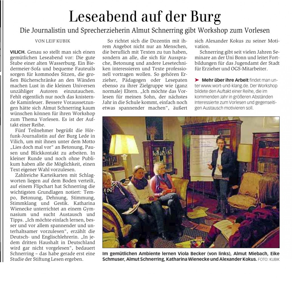 Generalanzeiger Bonn, 17.12.2014