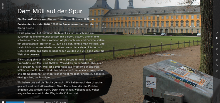 Featurewerkstatt Universität Bonn